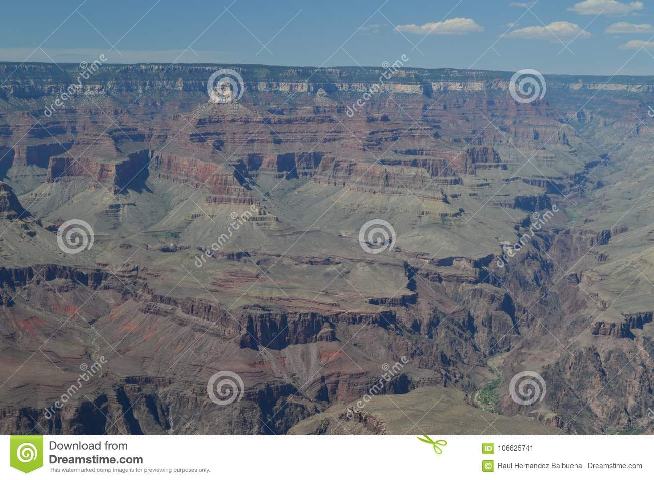 Grand Canyon Of The Colorado River. South Kaibab Trailhead. Geological formations.