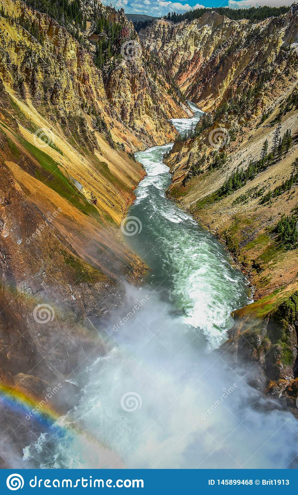 Grand Canyon de los arco iris de Yellowstone