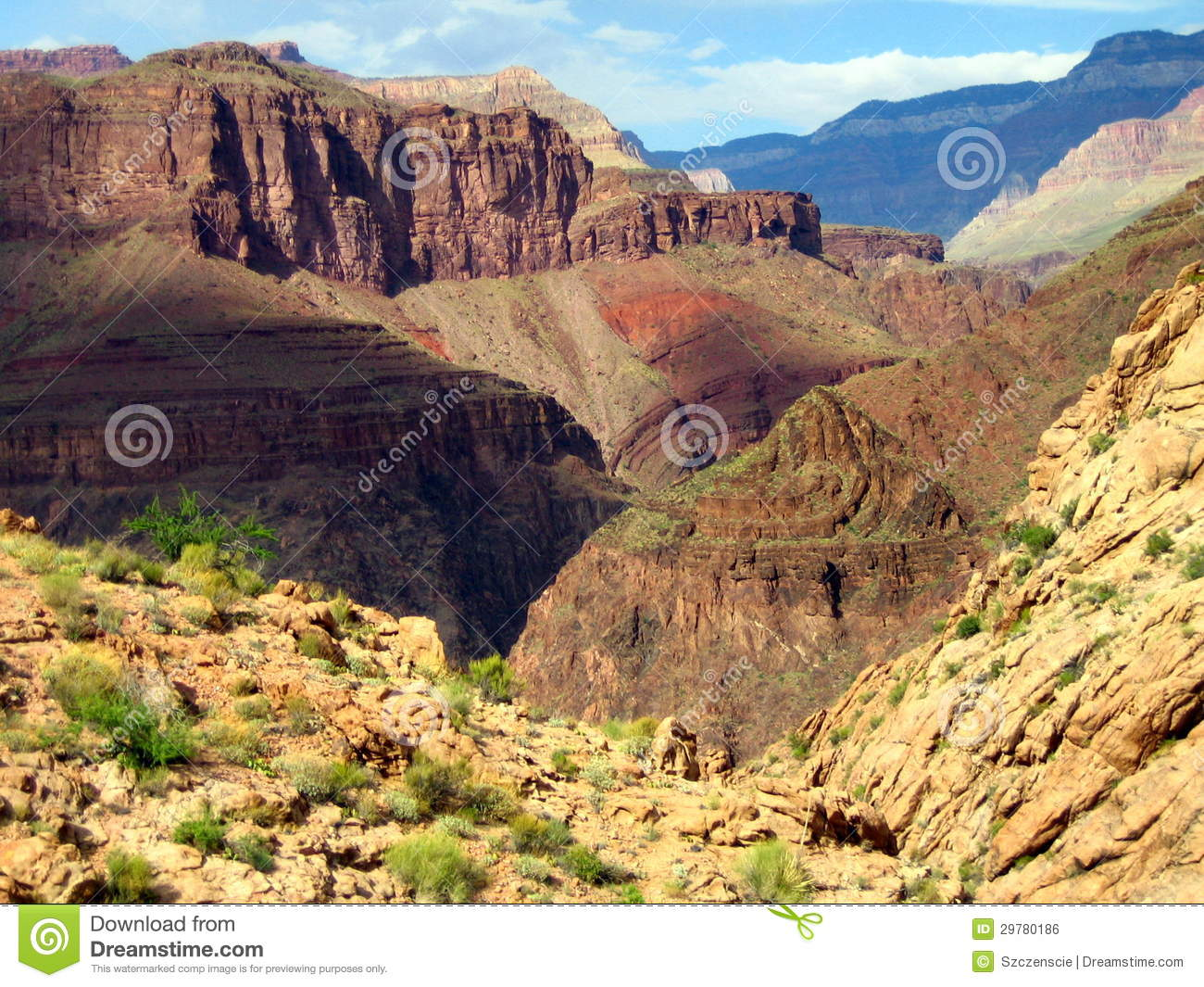 Beautiful view of the Grand Canyon National Park
