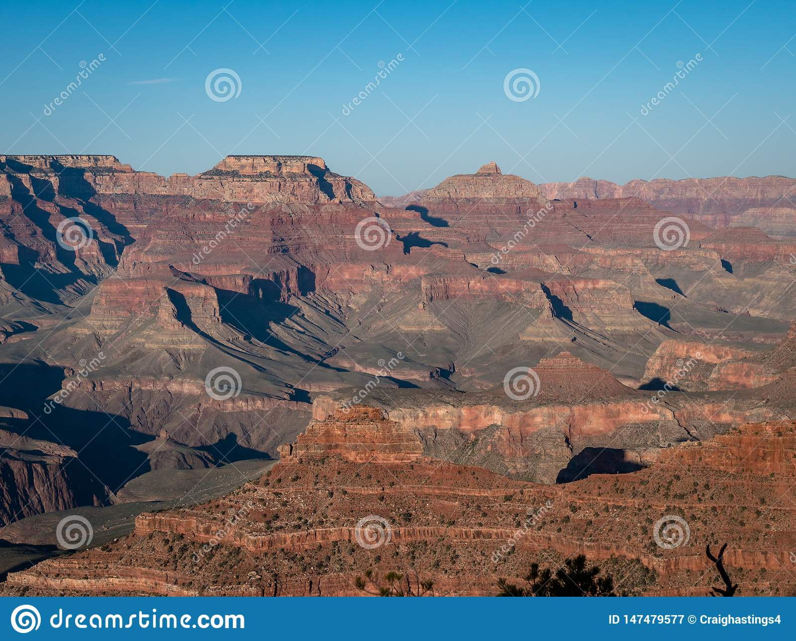 Scenic view of the Grand Canyon from the Grand Canyon Village south side
