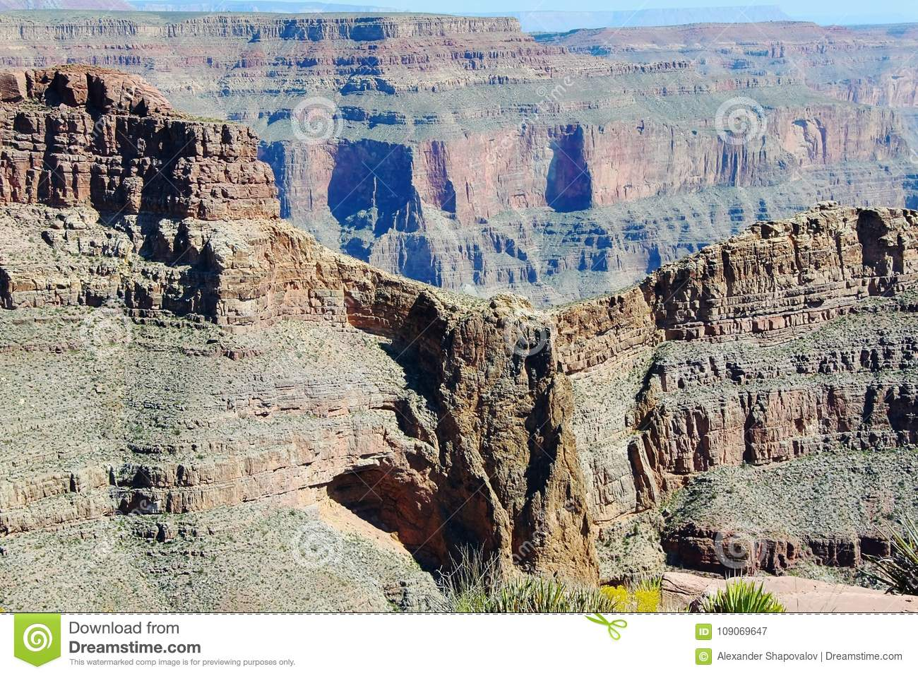 Grand Canyon West. Famous Eagle Point. Beautiful nature background.