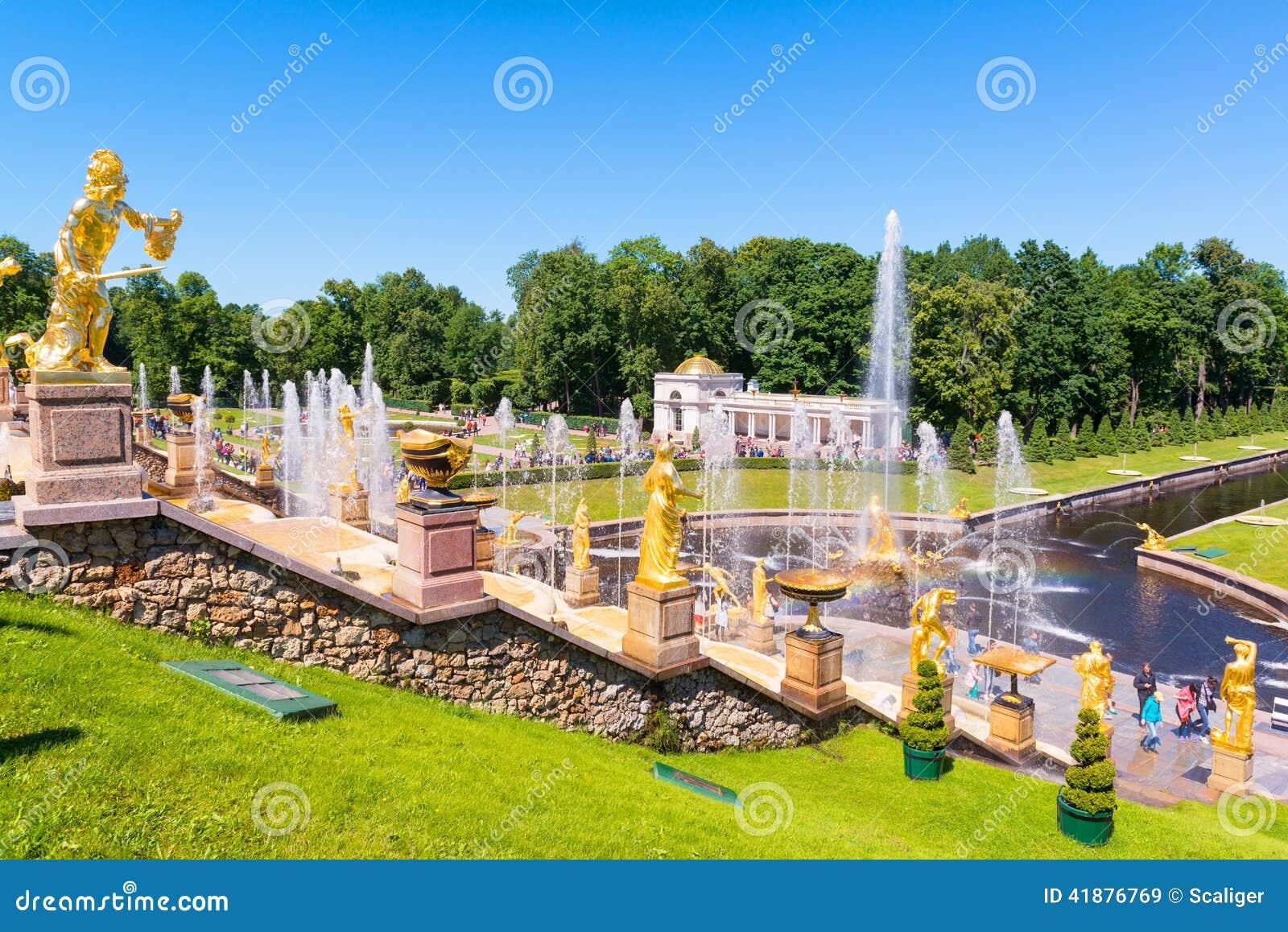 Grand Cascade in Peterhof Palace, Saint Petersburg