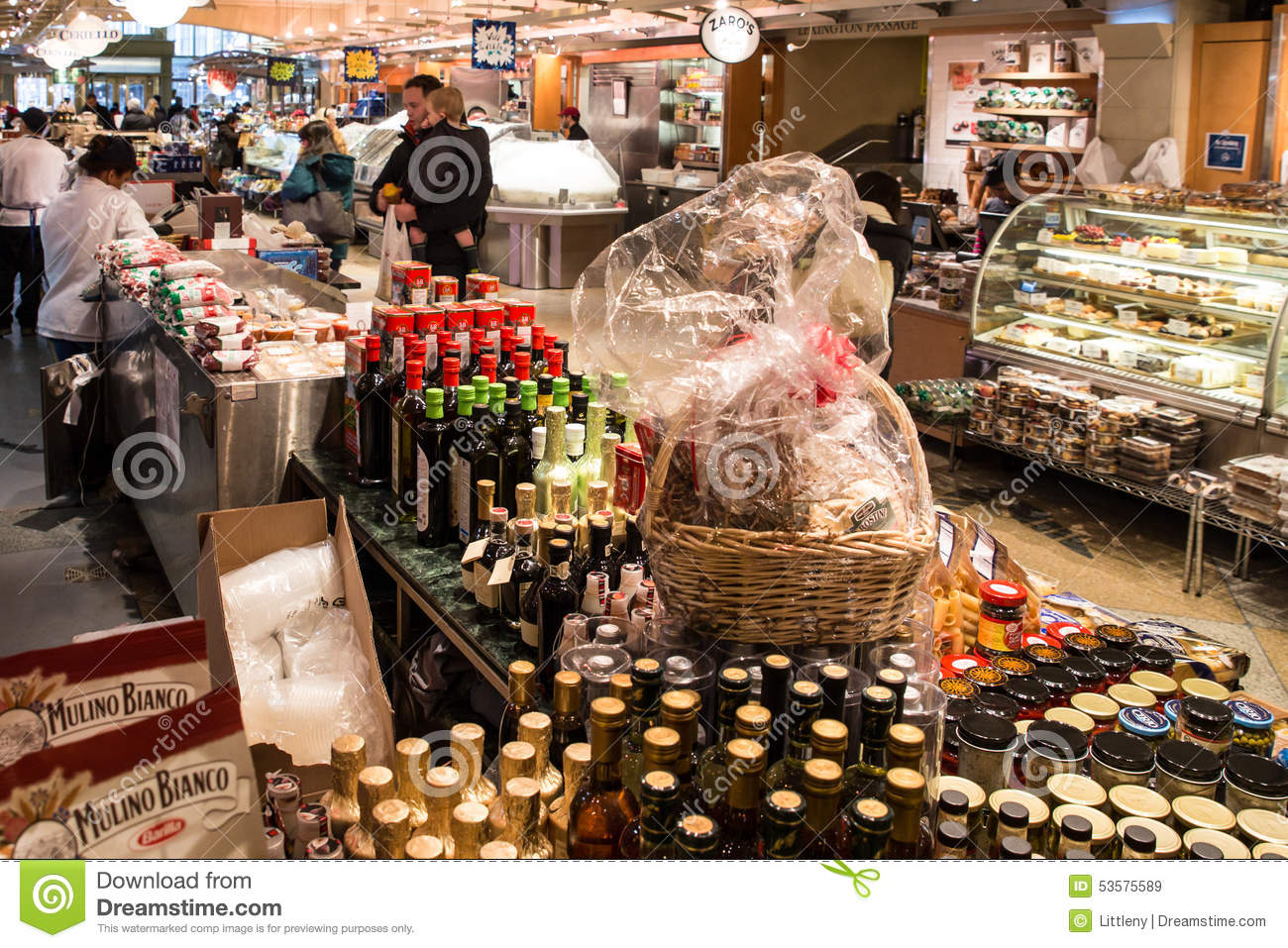 Grand Central Market NYC editorial stock image  Image of food - 53575589