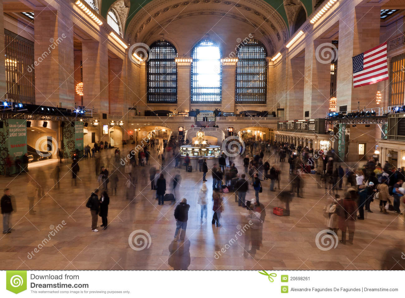 Grand central station clock new york city editorial photo - Grand tableau new york ...