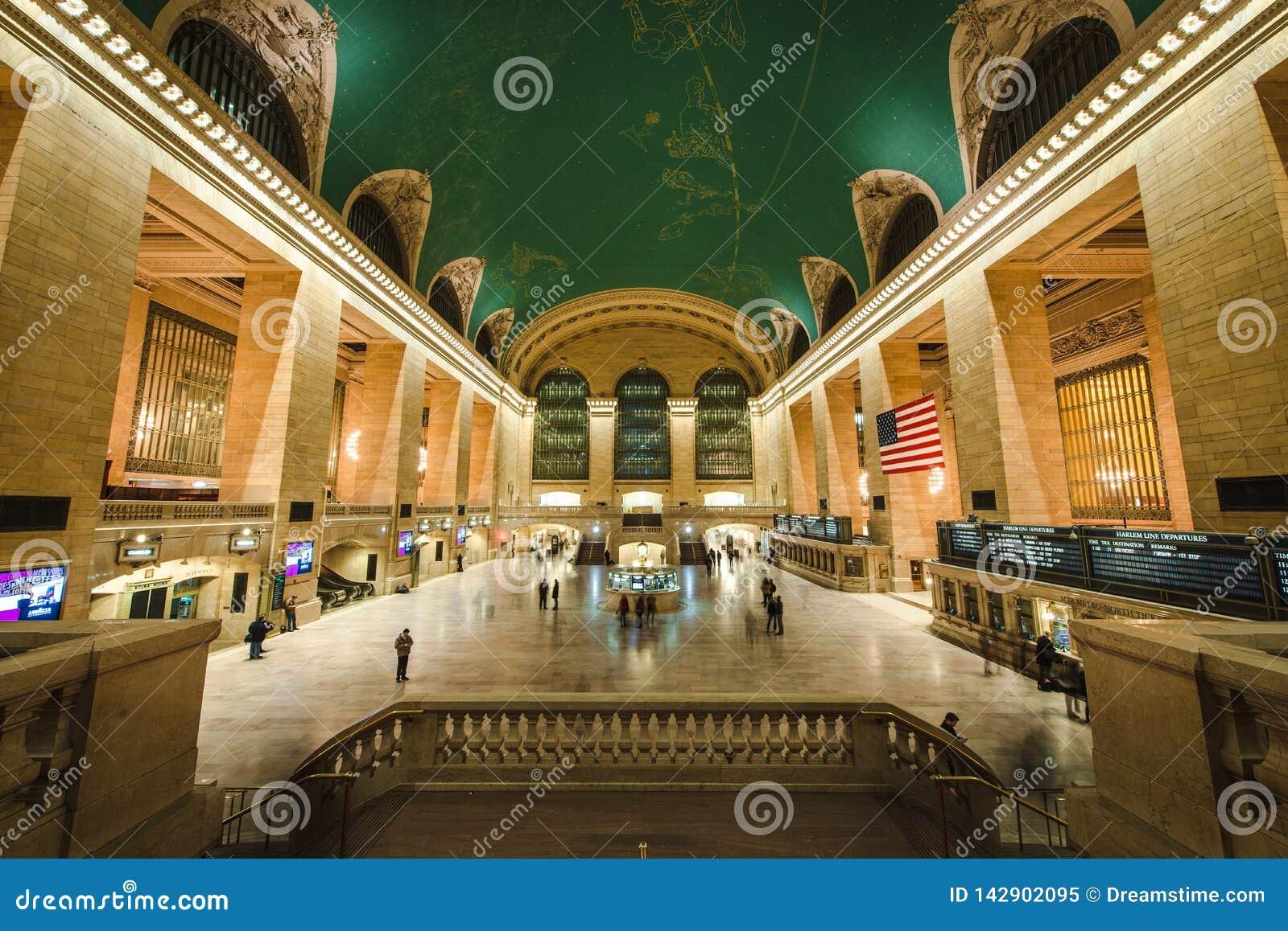 Grand Central Stationbinnenland, NYC