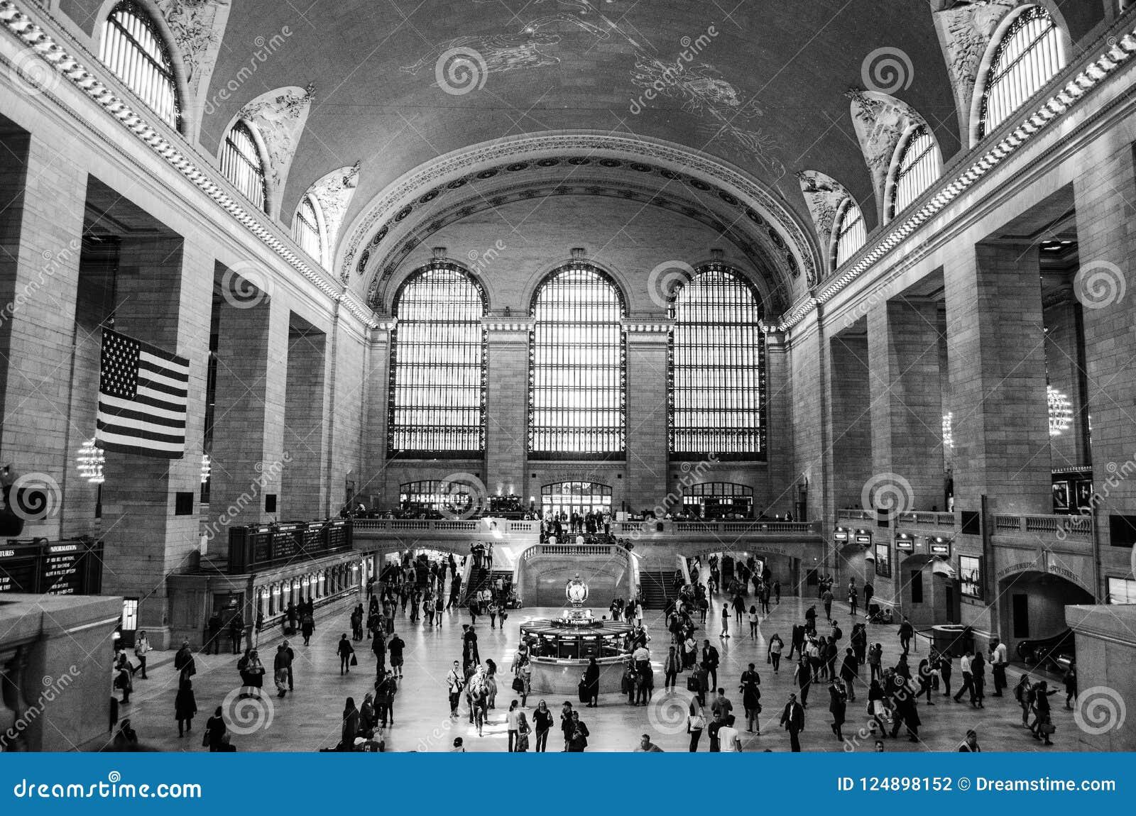 Grand Central -Zwart-witte de Stad van Postnew york