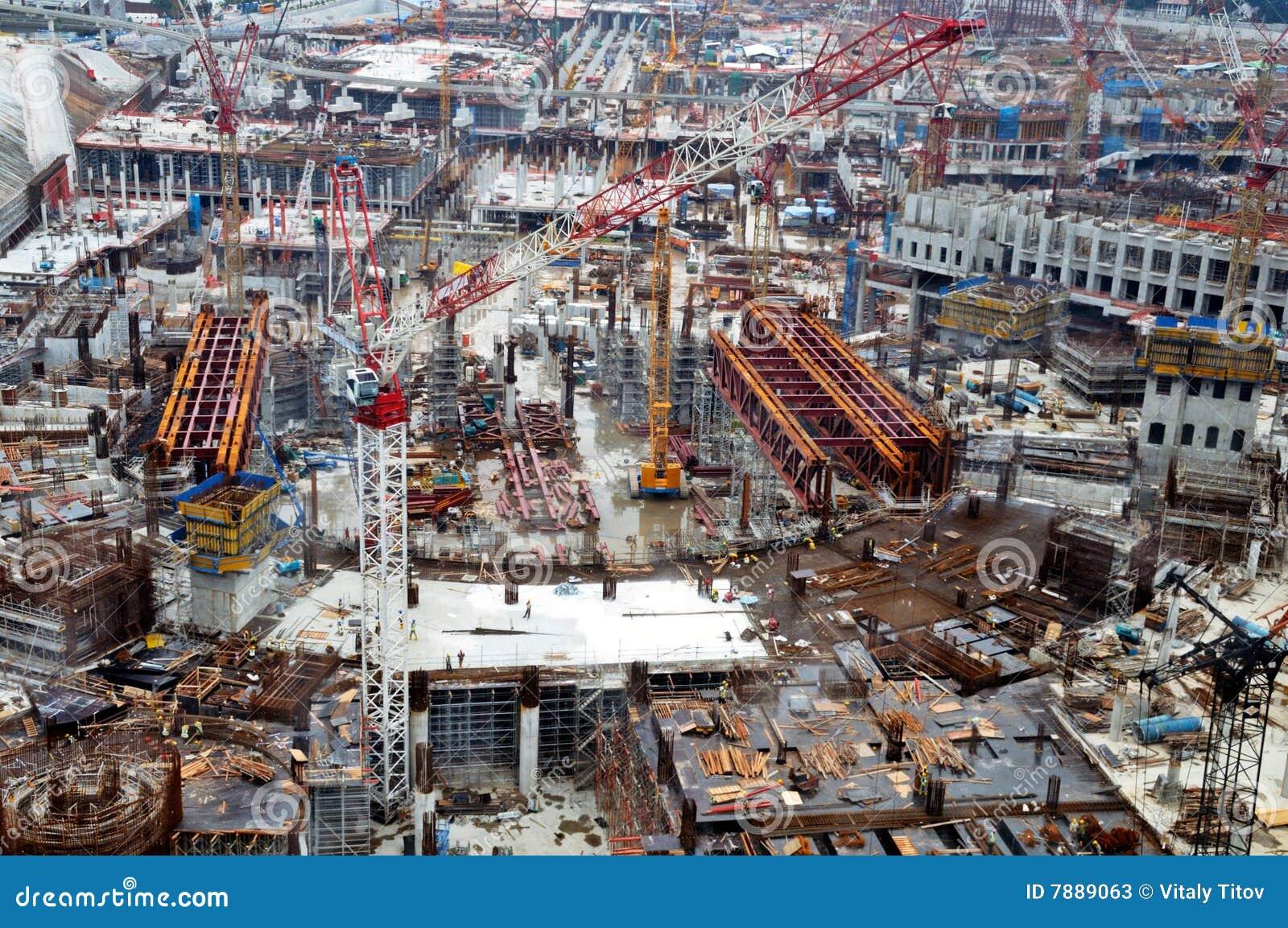 Grand chantier de construction photos stock image 7889063 for Chantiers de construction