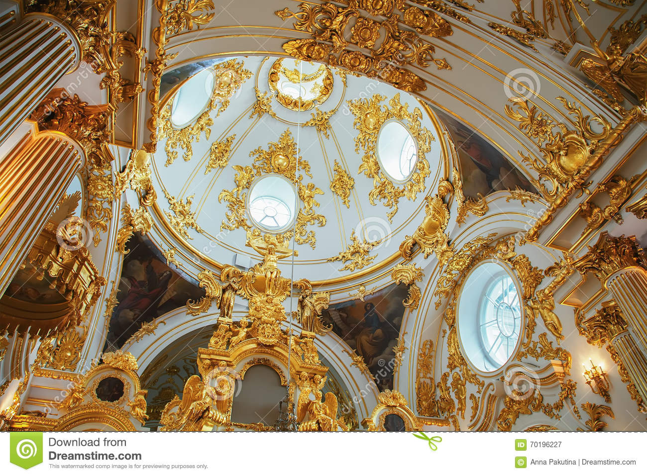 grand church of the winter palace state hermitage in st