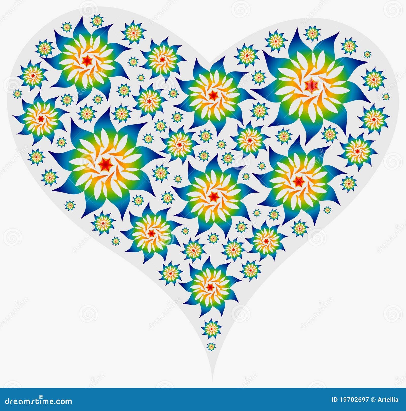 Grand coeur rempli de mandalas illustration de vecteur illustration du bleu cercle 19702697 - Mandala de coeur ...