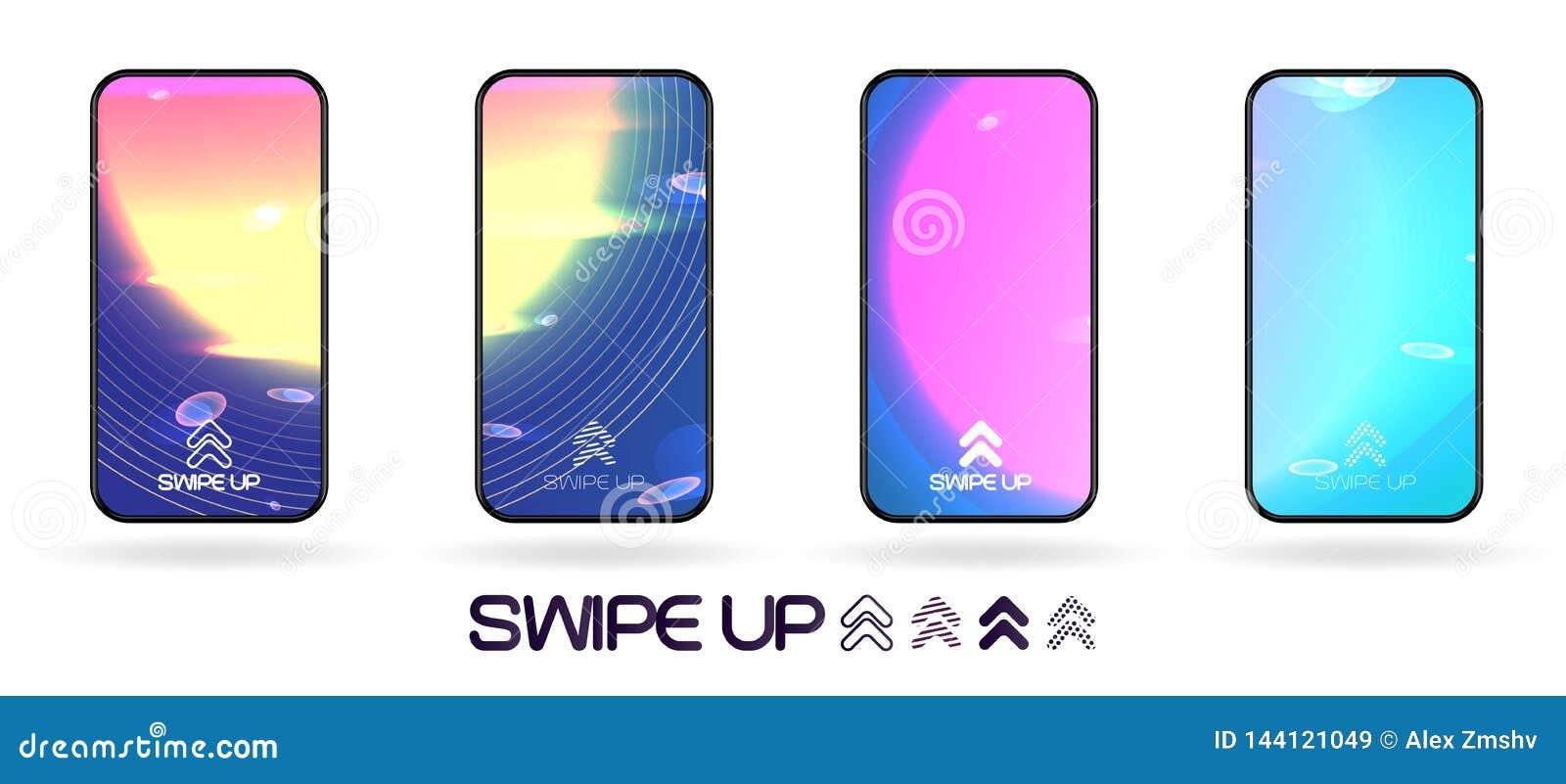 Grand coup abstrait d écran de smartphone de l espace vers le haut de calibre