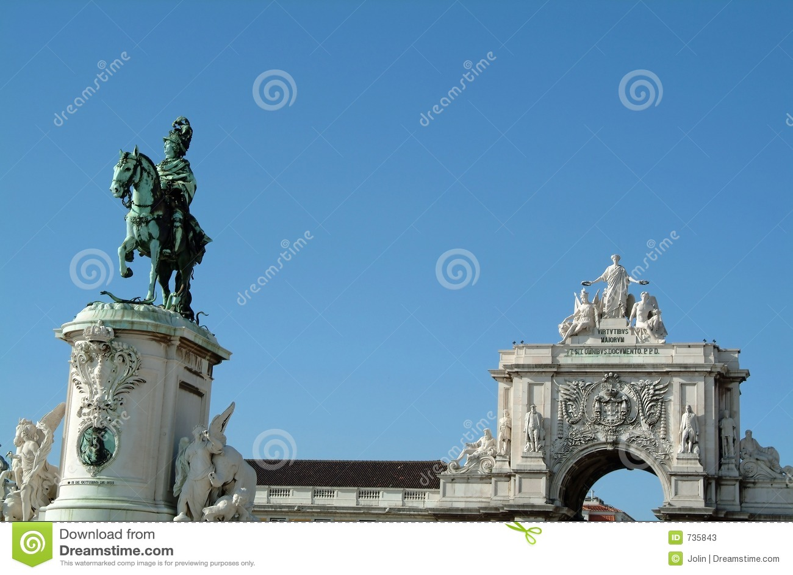 Grand dos antique du commerce, Lisbonne