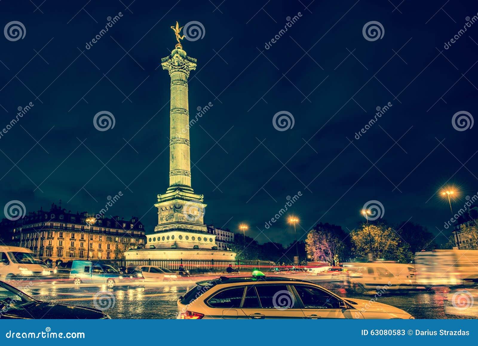Download Grand Dos De Bastille, Paris Image stock - Image du européen, europe: 63080583