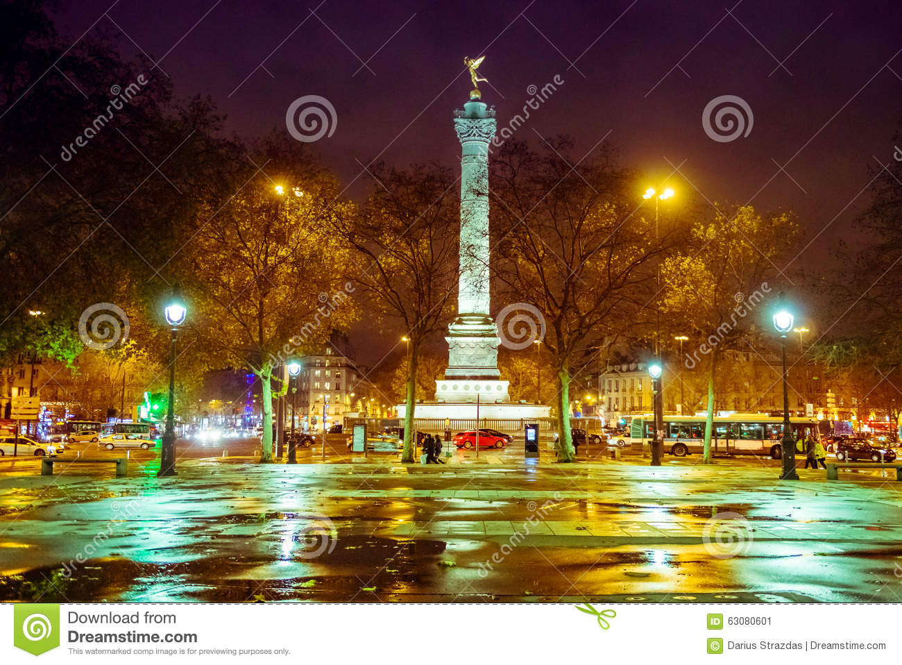 Download Grand Dos De Bastille, Paris Image stock - Image du historique, lames: 63080601