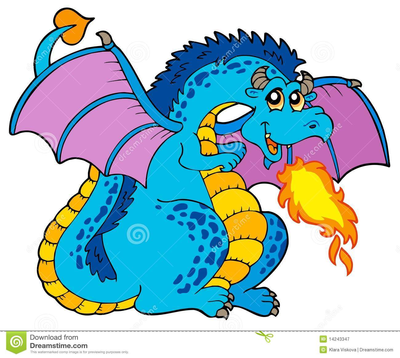Grand dragon bleu d incendie