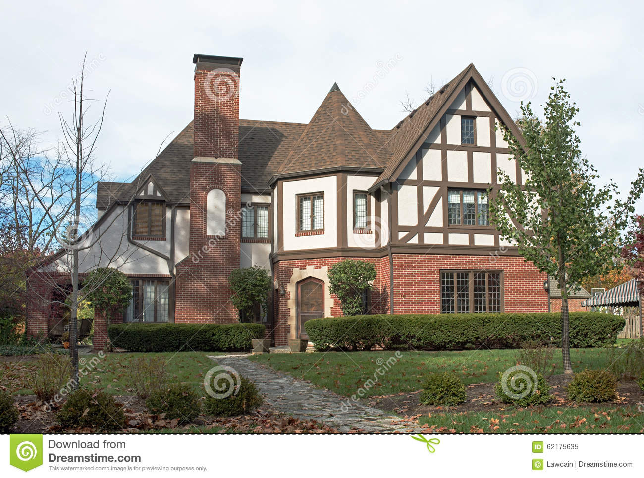 Grand English Tudor Home Stock Photo Image 62175635