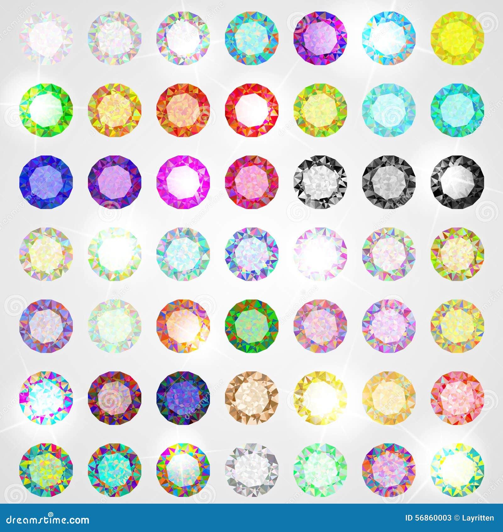 grand ensemble de diamants toutes les couleurs illustration de vecteur illustration du blanc. Black Bedroom Furniture Sets. Home Design Ideas