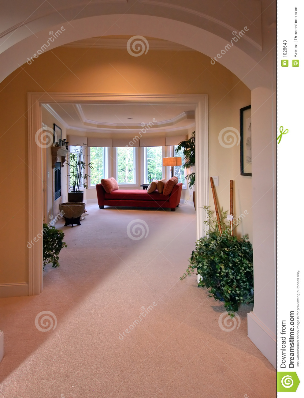 Grand Entrance Of A Master Suite Stock Photos Image 1028643