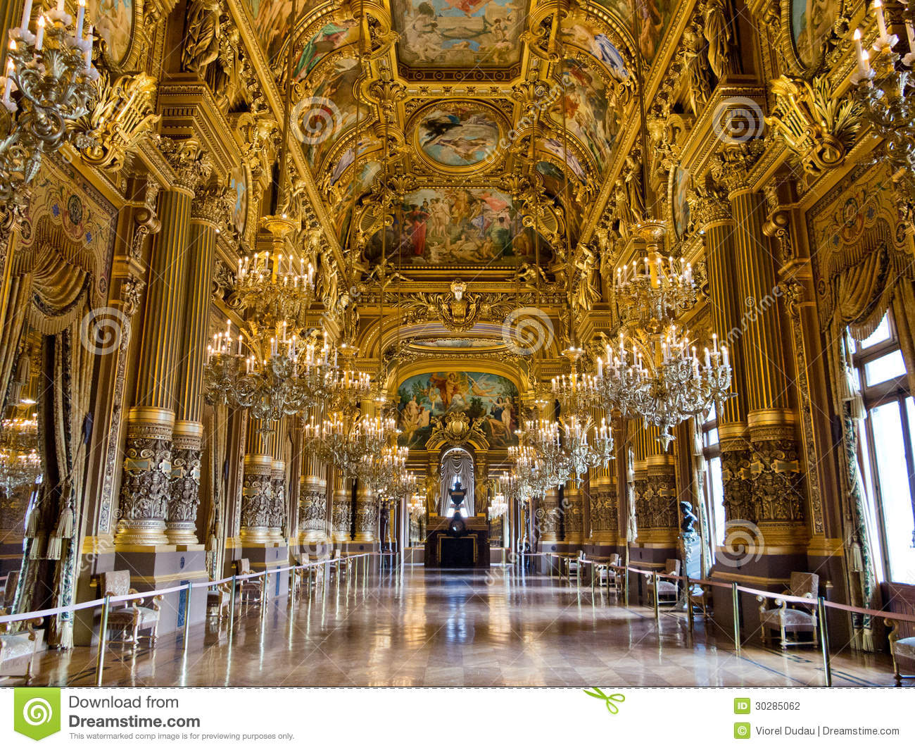 Grand Foyer De L Art Roman : Grand foyer palais garnier stock photography image
