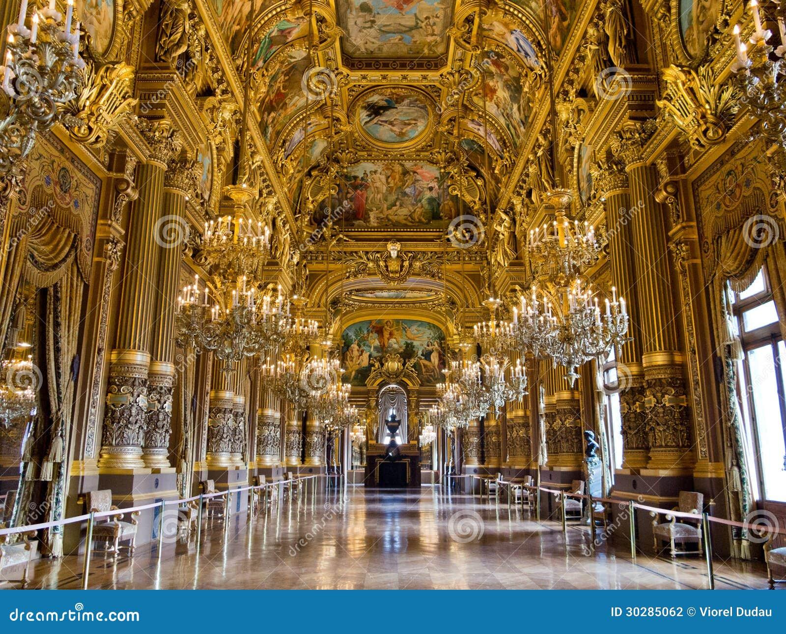 The Grand Foyer Palais Garnier : Grand foyer palais garnier stock photography image
