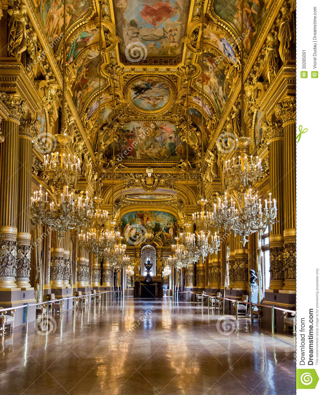 Grand Foyer Du Palais Garnier : Opera garnier paris stock image