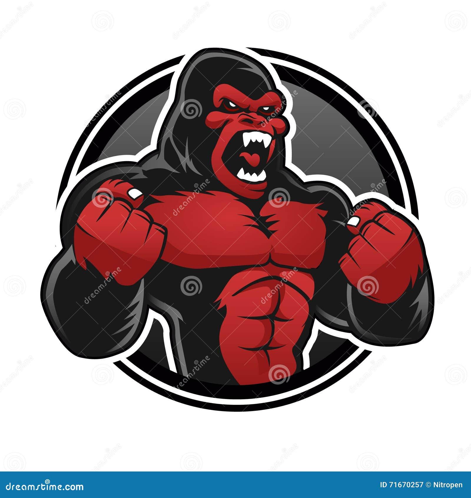 Grand gorille fâché Gorillarouge