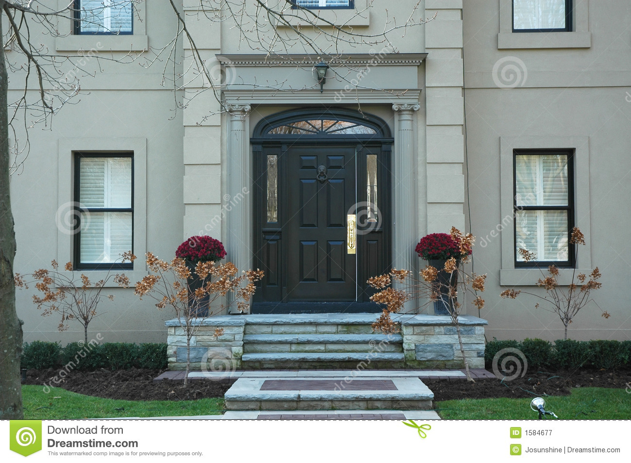 Grand home entrance royalty free stock photography image for Grand entrances