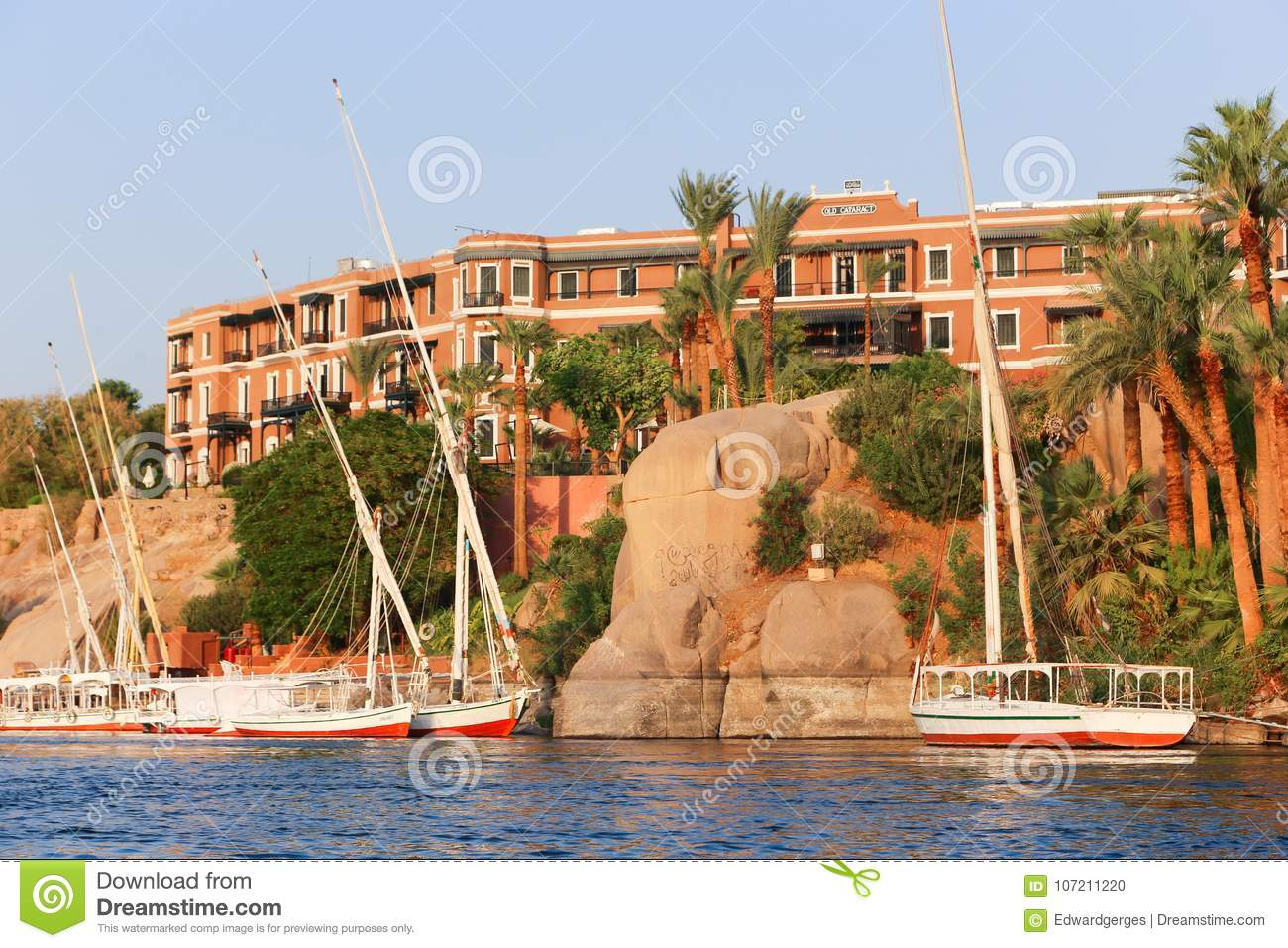 Grand Hotel Aswan Egypt Editorial Image Image Of Africa 107211220