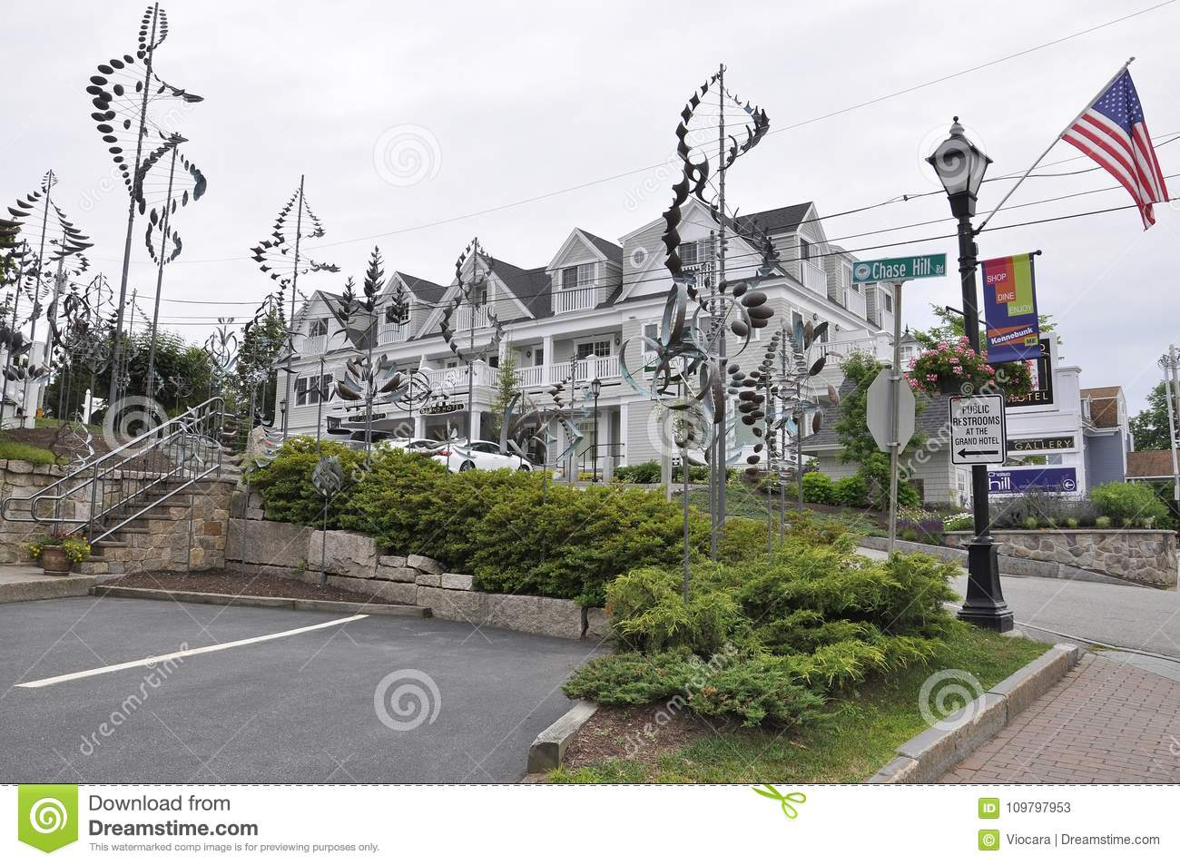 Kennebunkport Maine 30th June Grand Hotel Building From Kennebunkport In Maine State Of Usa Editorial Stock Photo Image Of Grand Accomodation 109797953