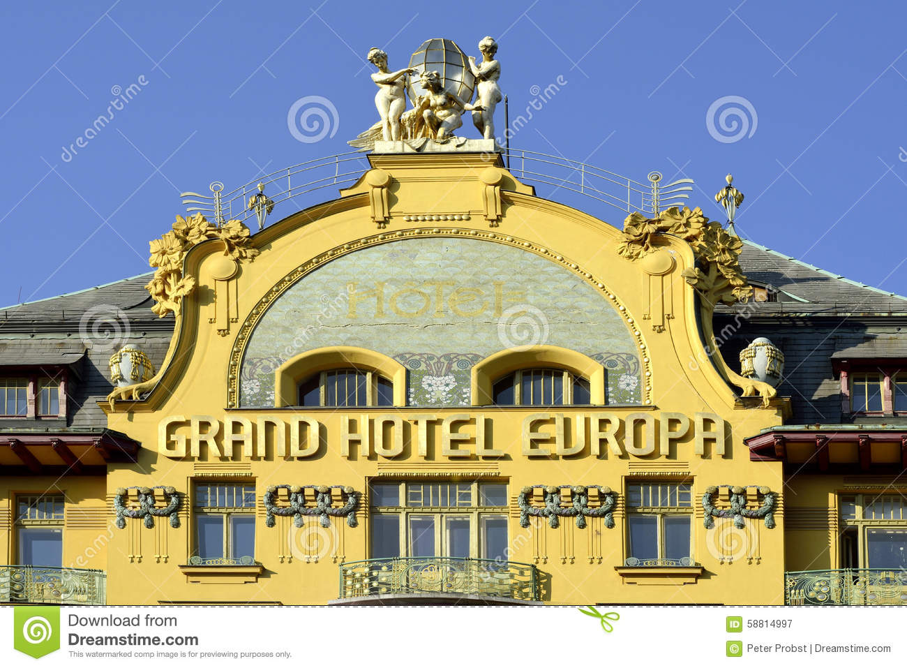 Grand hotel europe in prague czech republic editorial for Hotel europa prague