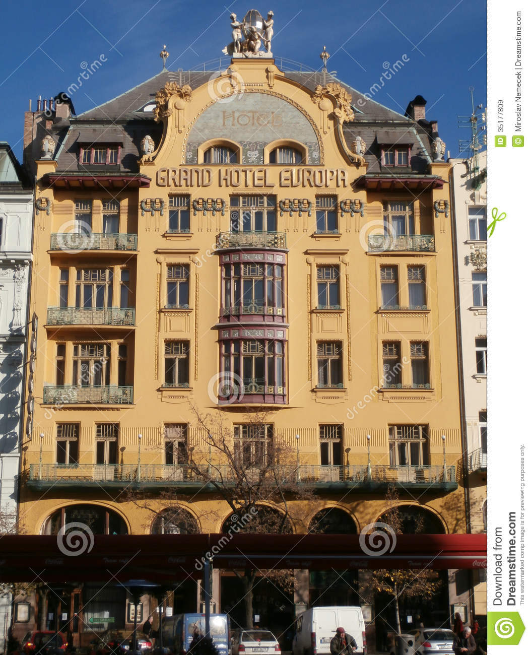 Grand hotel europe in prague editorial stock image image for Europe hotel prague