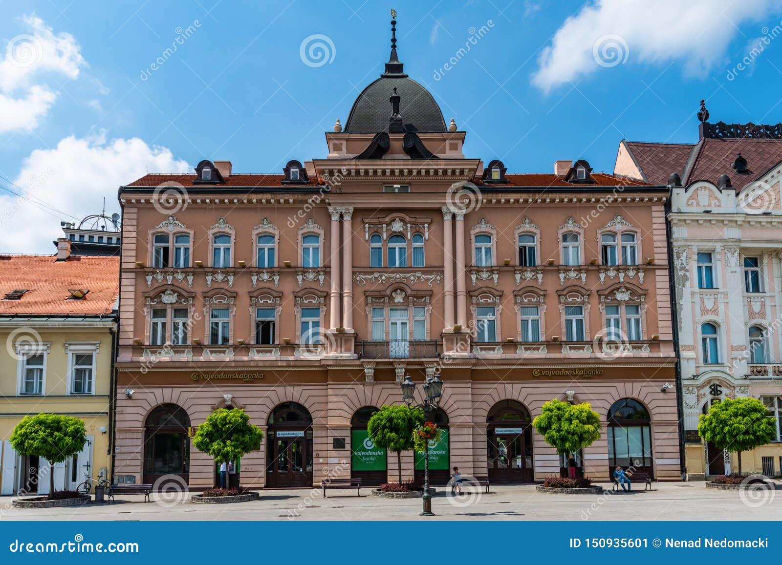 Grand Hotel Majer Vojvodjanska Banka on the central square in Novi Sad Serbia.