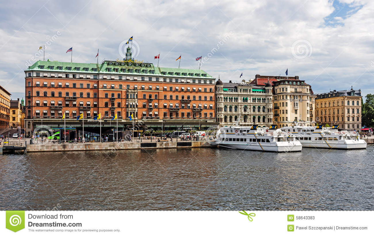 The grand hotel stockholm editorial stock photo image for Stockholm appart hotel