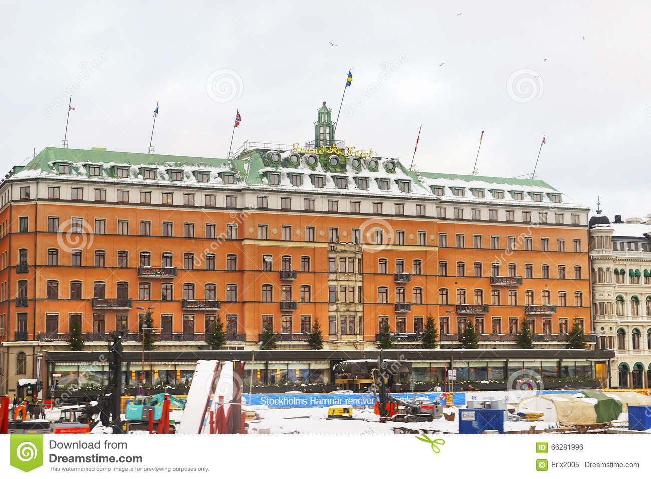 grand hotel in winter gamla stan of stockholm editorial photo image of island scandinavian. Black Bedroom Furniture Sets. Home Design Ideas