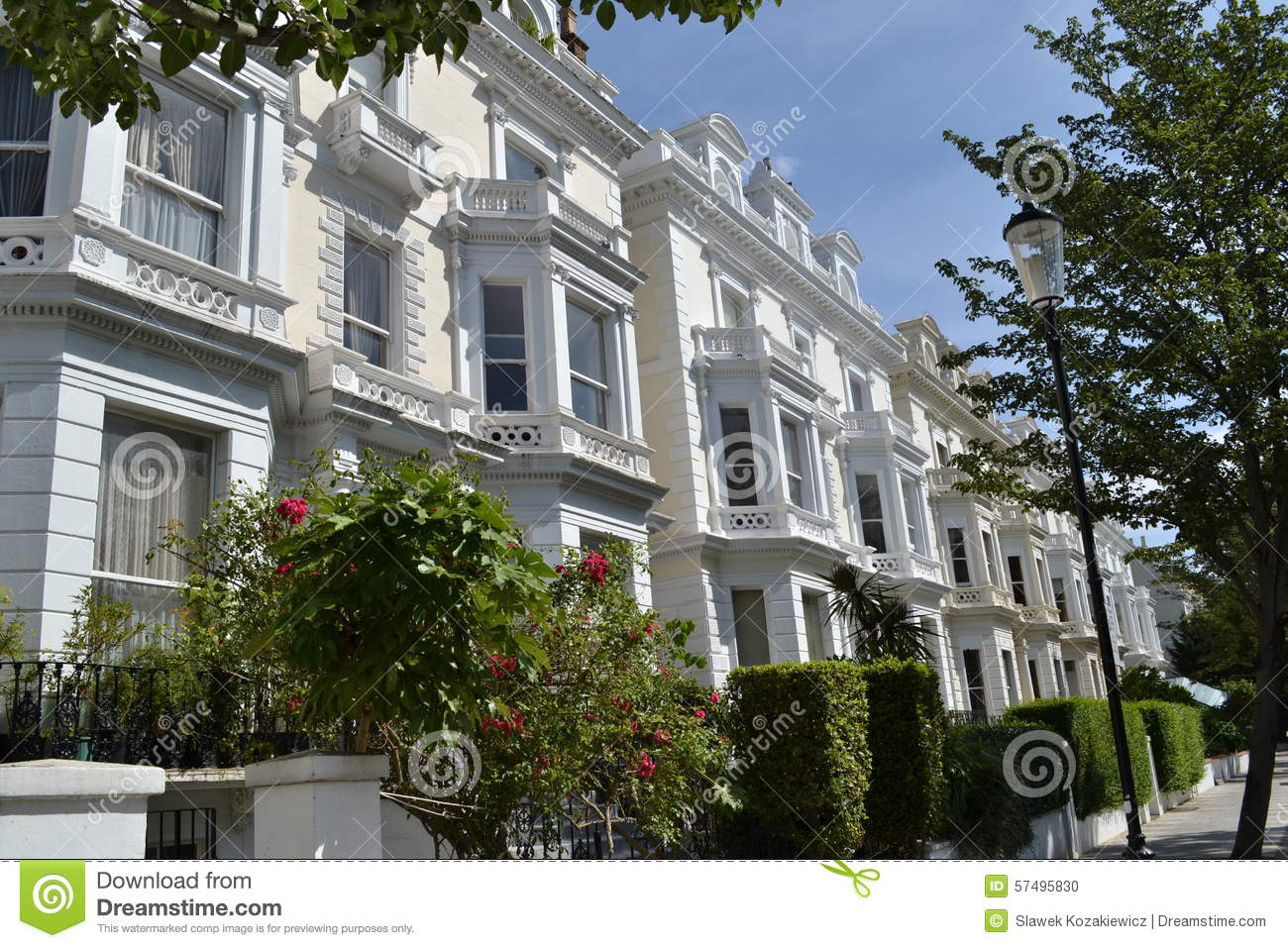 Grand houses notting hill london stock photo image 57495830 for House notting hill