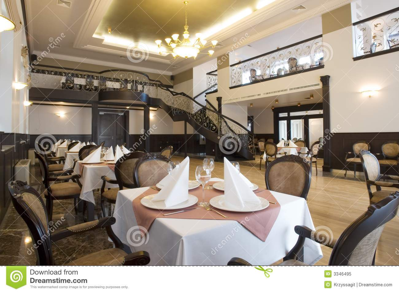 Grand interior dining hall royalty free stock photo for Dining hall interior
