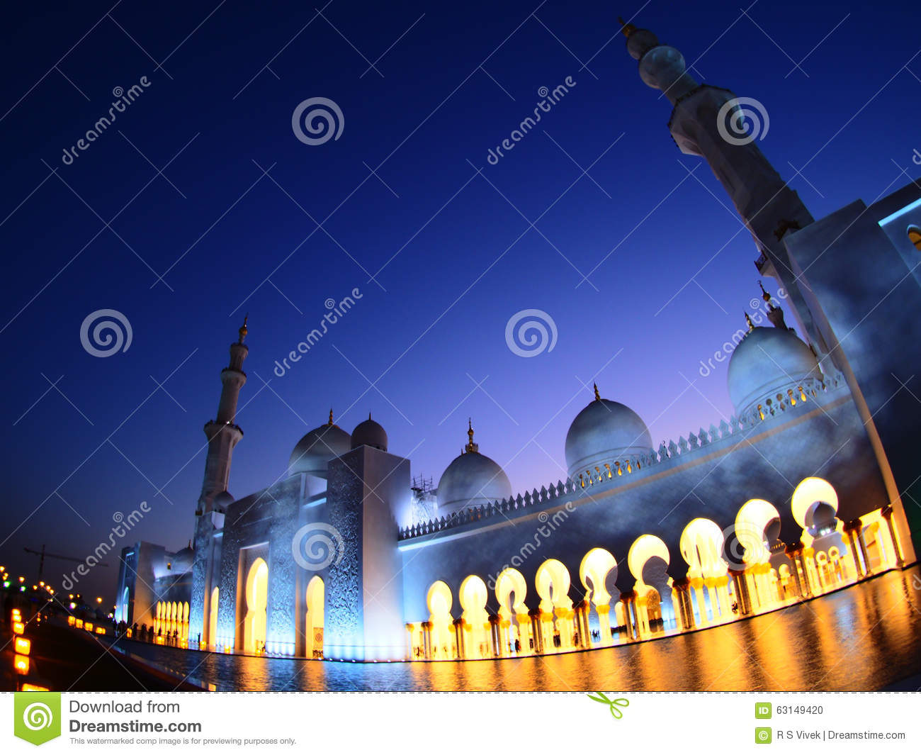 Grand Lighting In Mosque Editorial Image Image 63149420