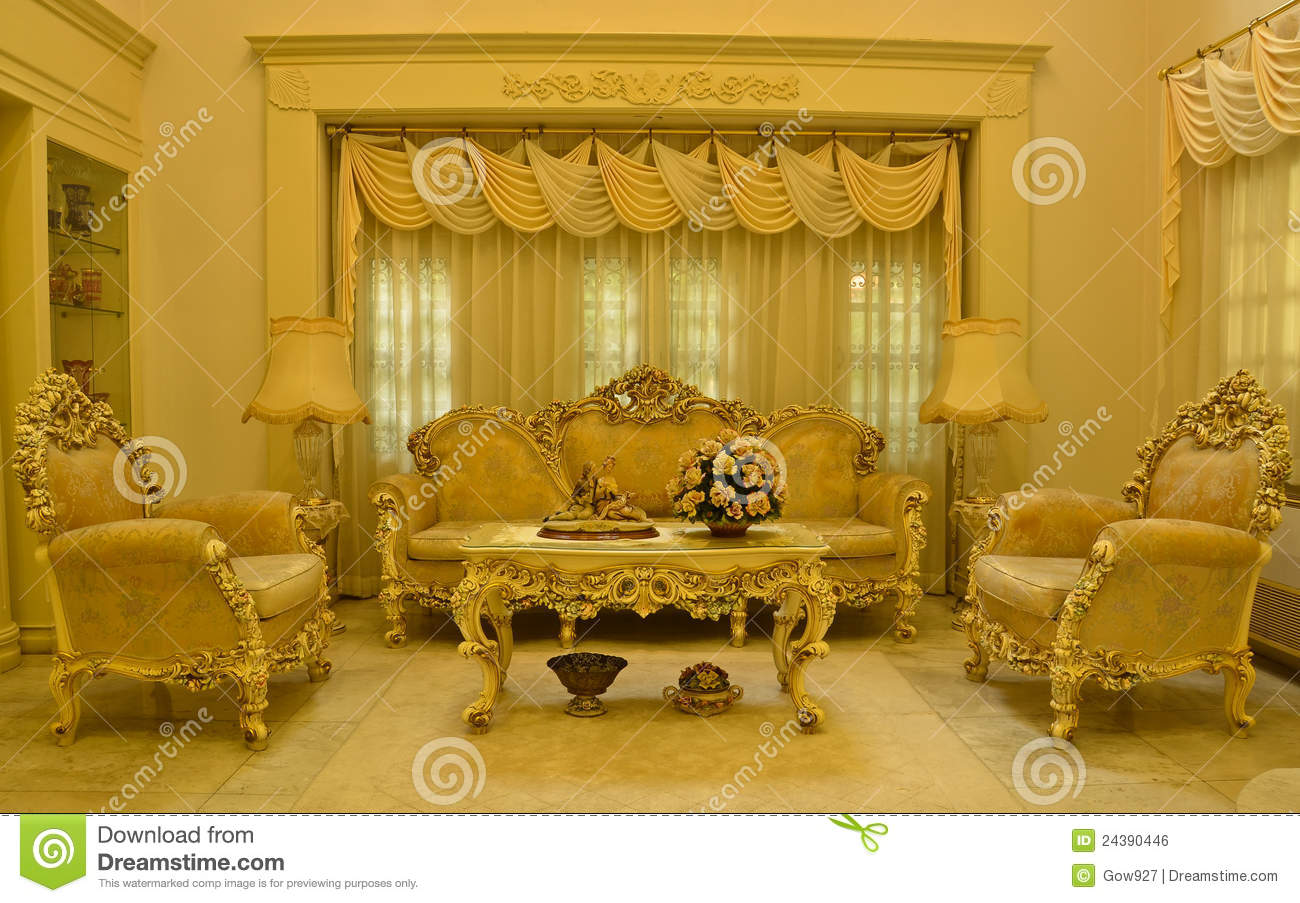 Grand Living Room Royalty Free Stock Image