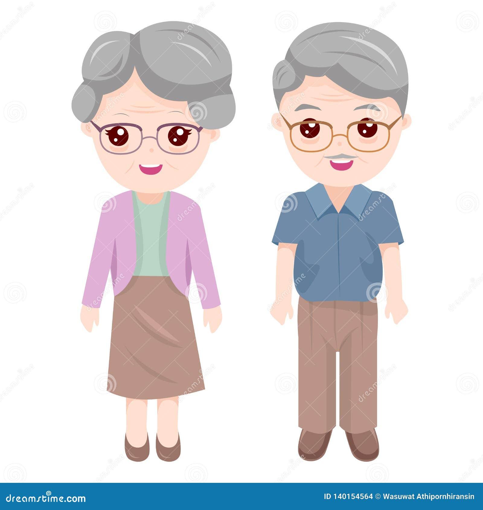 Grand-maman et grand-papa