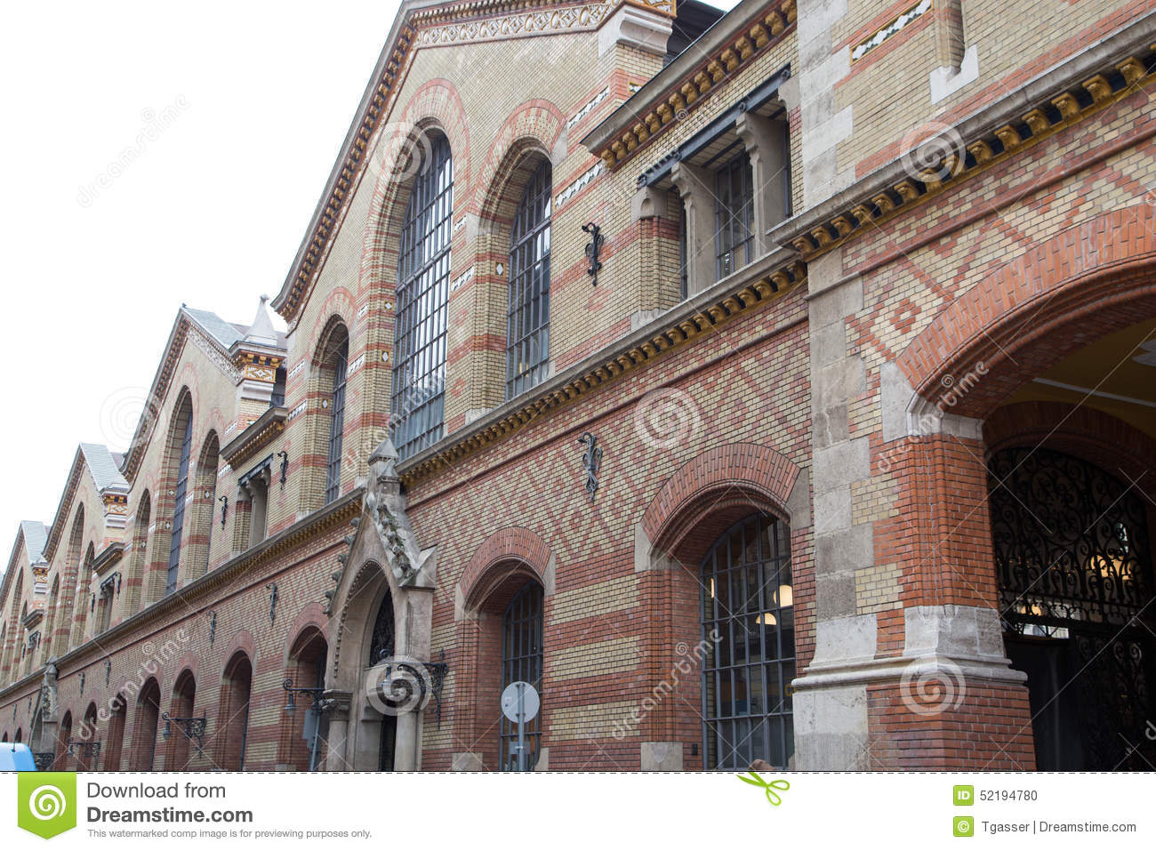 Grand Market Hall Budapest Stock Photo Image 52194780