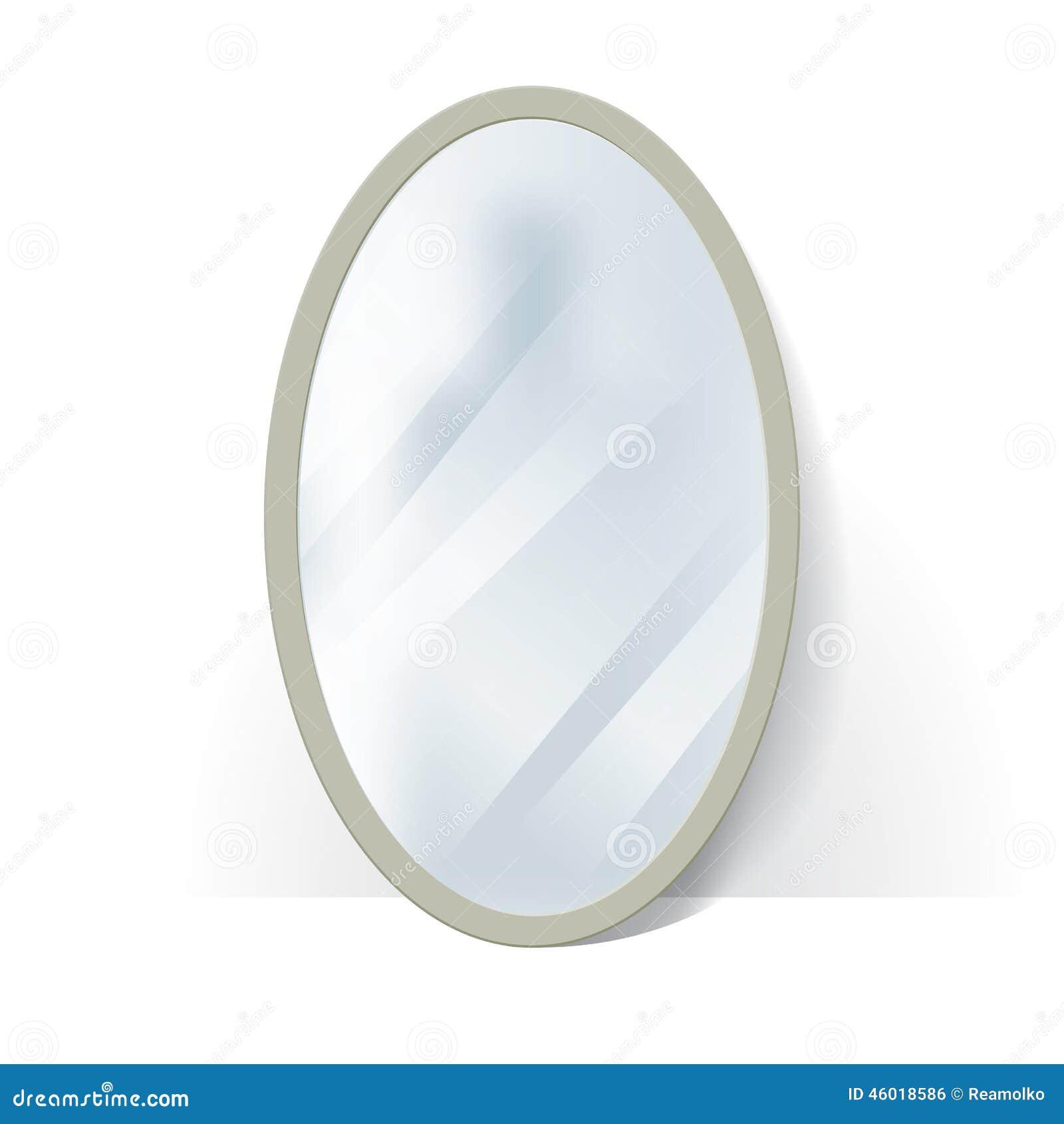 grand miroir ovale avec la r flexion trouble illustration. Black Bedroom Furniture Sets. Home Design Ideas