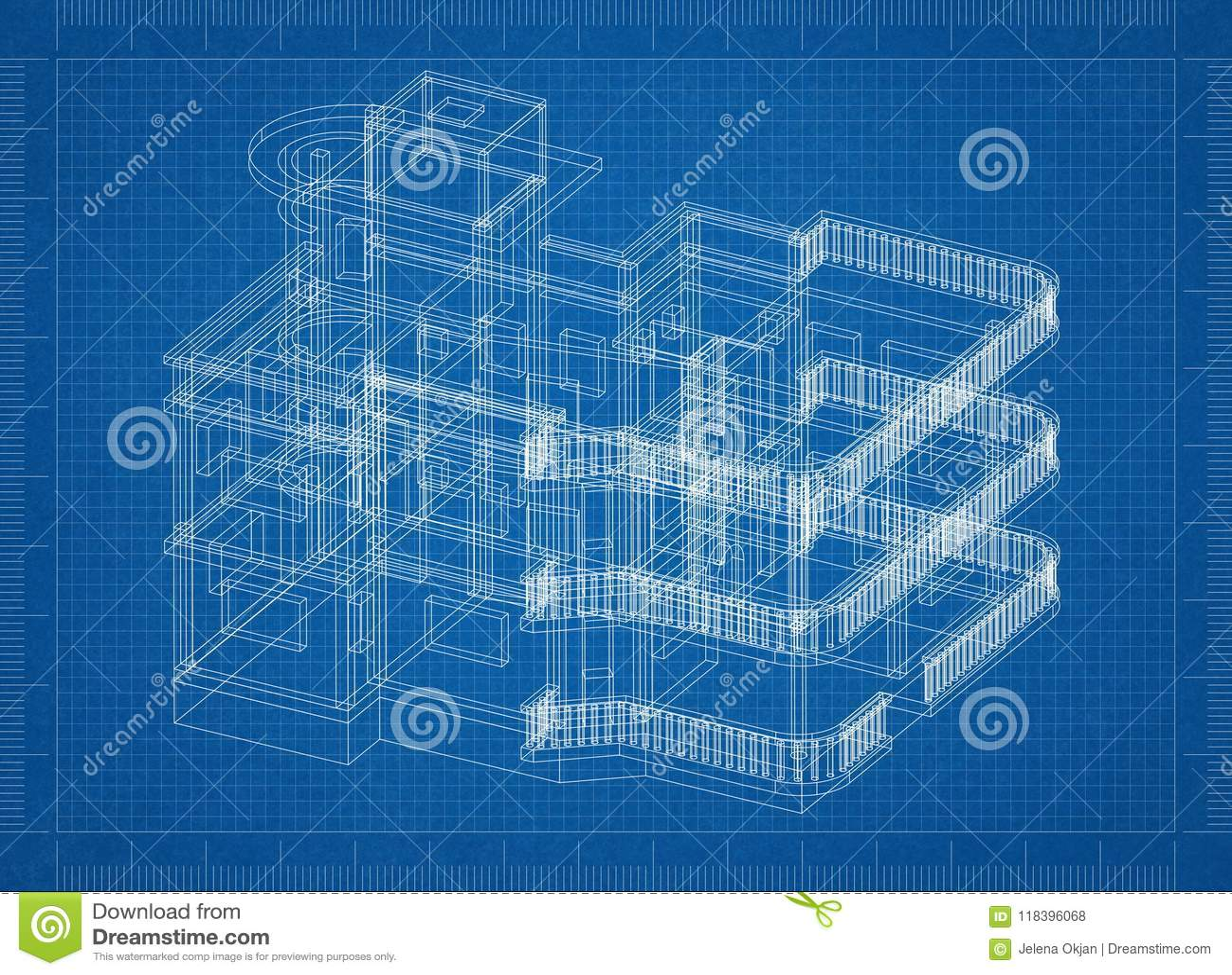 Grand modèle d architecte de Chambre