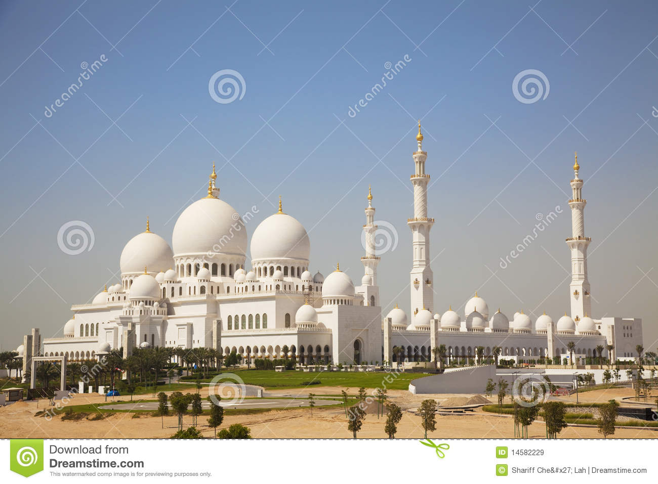 Grand Mosque, Abu Dhabi, UAE Royalty Free Stock Images - Image ...