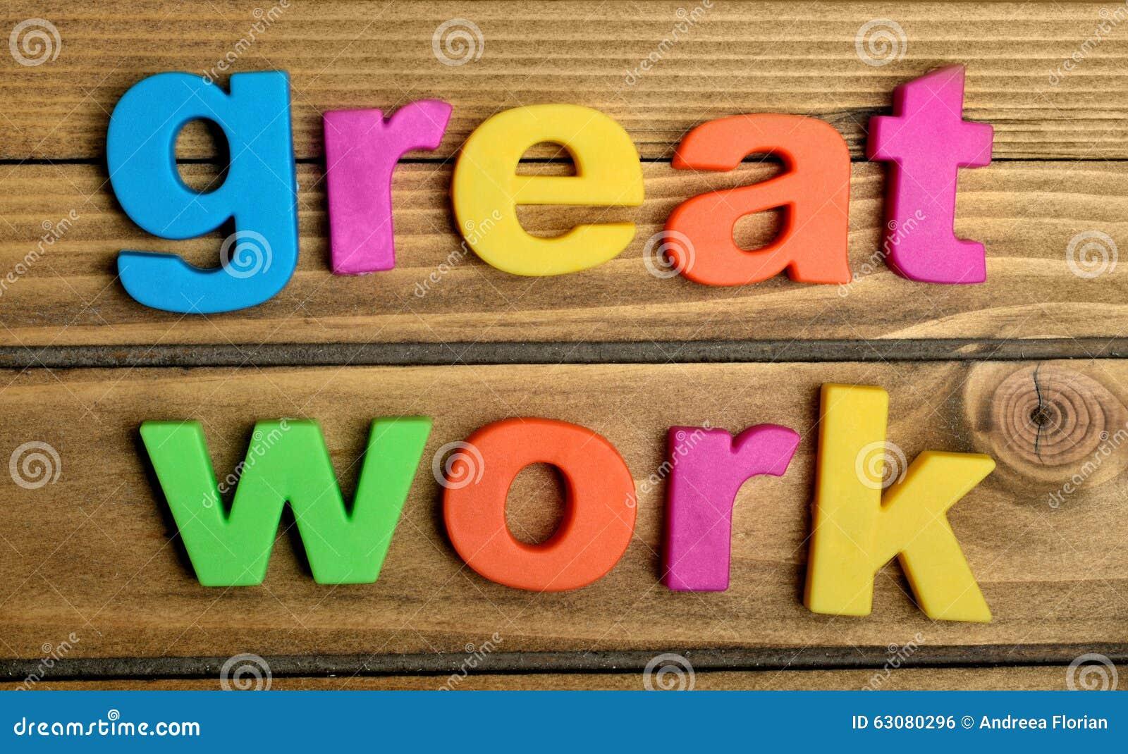 Download Grand mot de travail photo stock. Image du apprenez, enjeu - 63080296