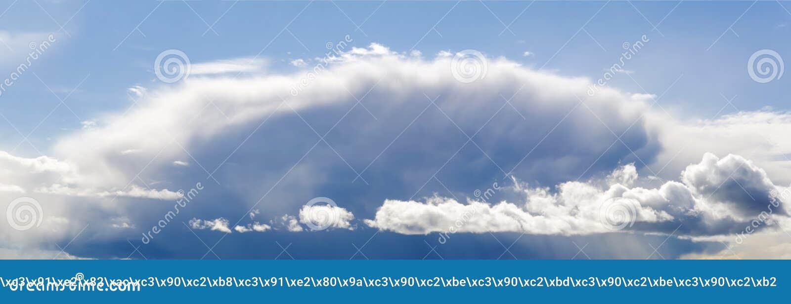 Grand nuage avant un orage
