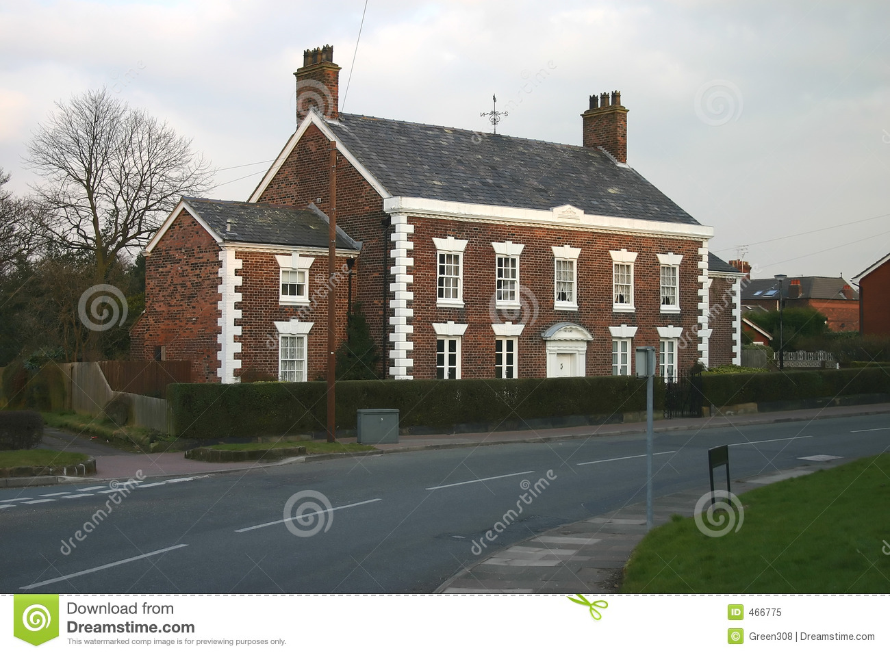 Download Grand Old English House stock image. Image of walls, cheshire - 466775