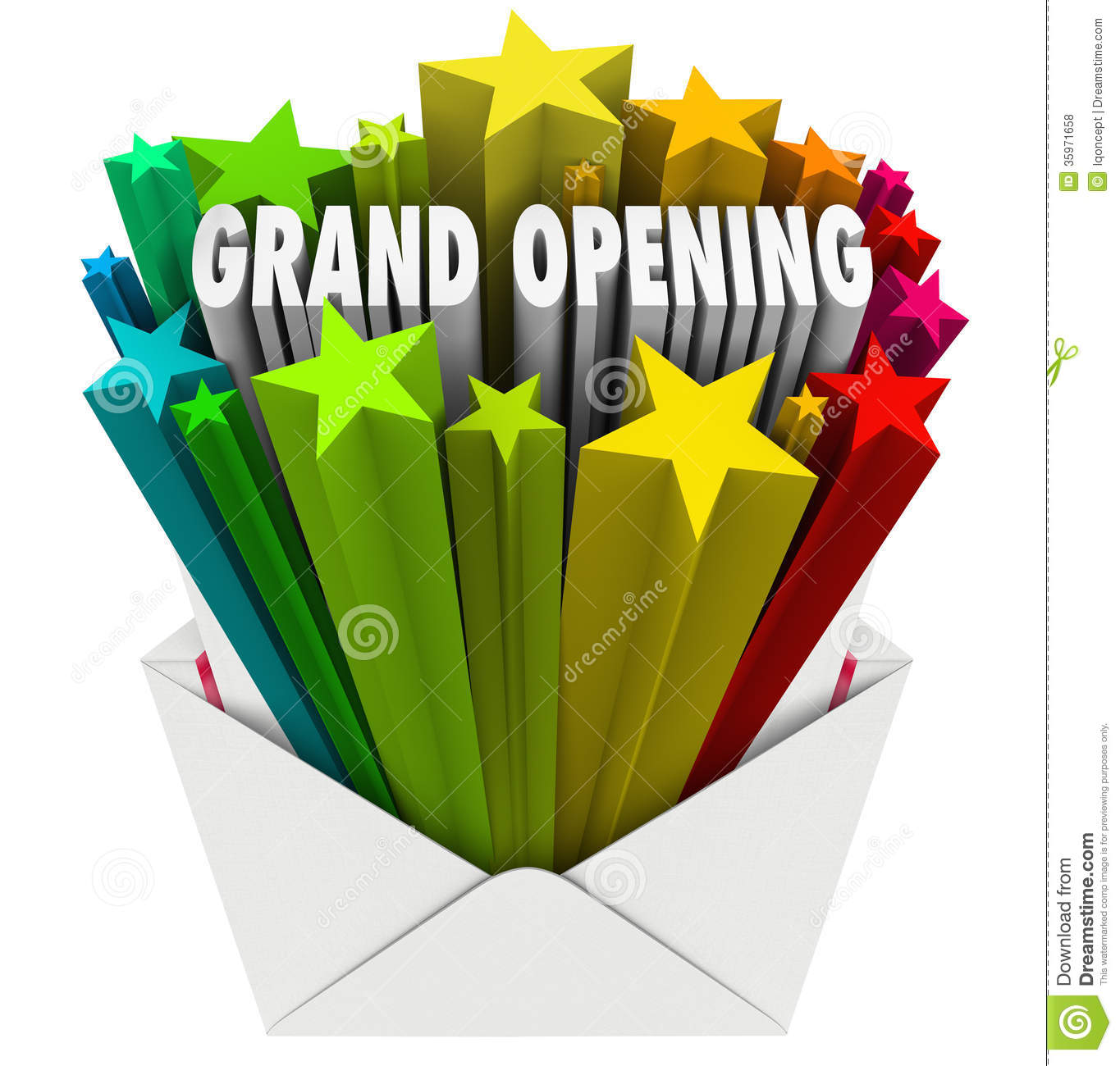 Grand Opening Announcement Letter Envelope Flyer Royalty Free – Grand Opening Flyer