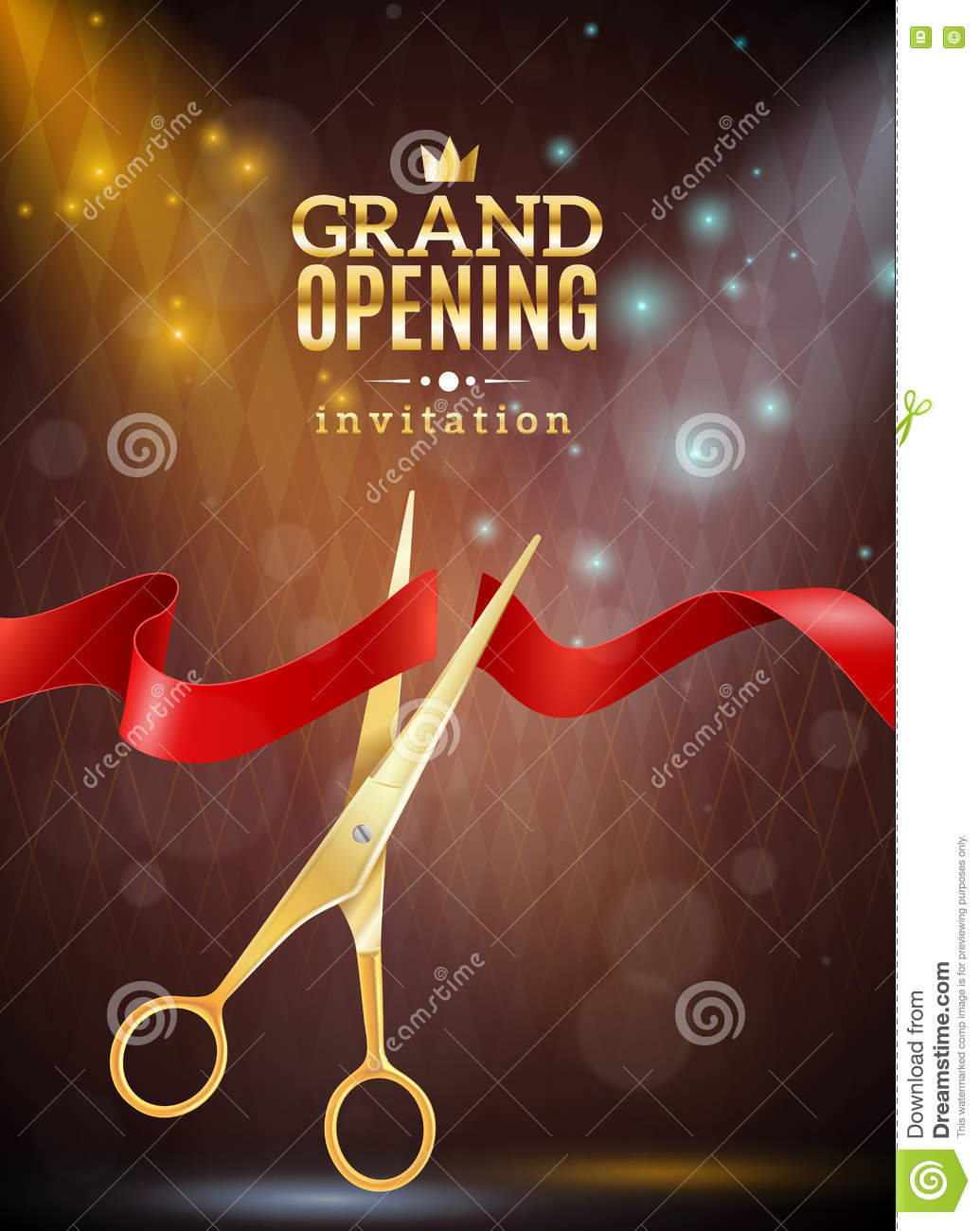 Grand Opening Background Illustration Stock Vector - Image ...