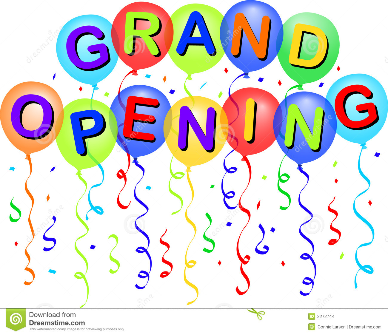 Grand Opening Balloons/eps Stock Images - Image: 2272744