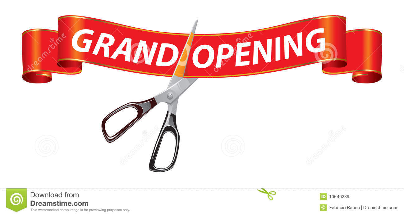 grand opening banner royalty free stock images  image: 10540289