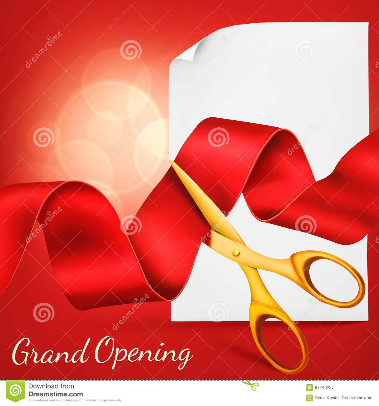 Grand opening card with scissorsred ribbon paper scroll template download comp stopboris Gallery